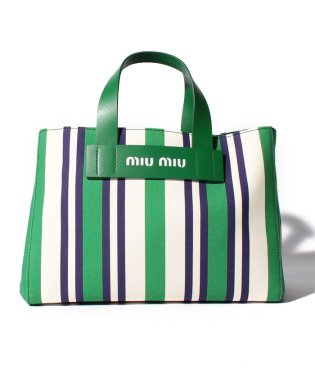 【MIUMIU】ストライプ トートバッグ