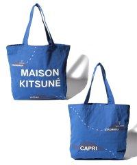 【MAISON KITSUNE 】ALL-OVER MAPPA トートバッグ