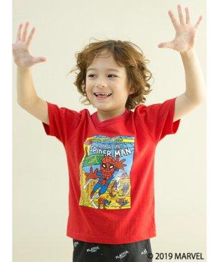【MARVELコラボ】スパイダーマンジャンピング半袖Tシャツ