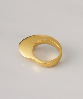 【Coz×nano・universe】ACE by morizane/別注sector ring K18 gold plated