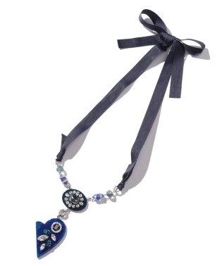 タンダンス ブルー樹脂ネックレス