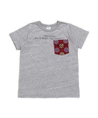 柄ポケットTシャツ_ジュニア