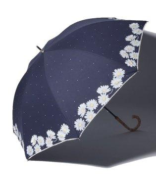 フラワー柄晴雨兼用長傘 日傘
