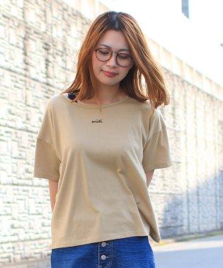 メッセージ刺繍ロゴTシャツ