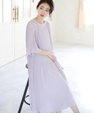 【結婚式・二次会】総プリーツワンピース