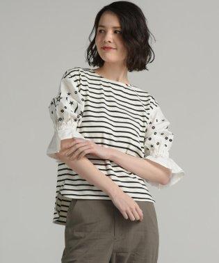 袖星カットワーク刺繍プルオーバー