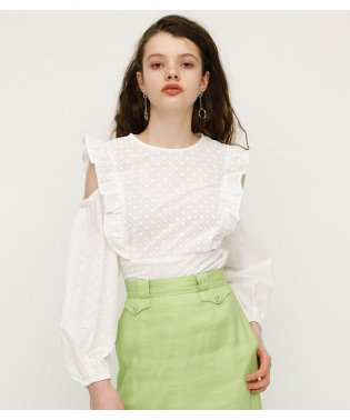 COMBI LACE FRILL TOPS