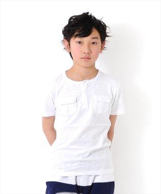 ポケット付きヘンリー半袖Tシャツ