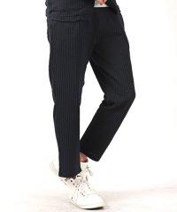 シアサッカーアンクルイージーパンツ※別売りのジャケットとセットアップが可能 アンクル パンツ