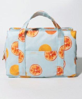 オレンジ柄バッグインバッグ