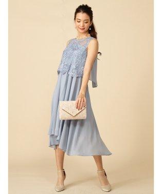 レース刺繍ミディアムドレス