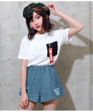 MA-1風Tシャツ×デニムキュロットSET