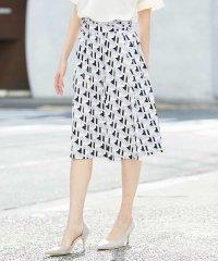 【セットアップ対応/洗える】幾何プリントジャージースカート