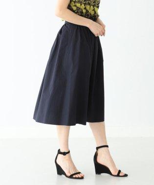 Demi-Luxe BEAMS / コットンリネン ギャザースカート