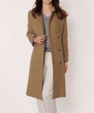 日本製 カシミヤ 100% ステンカラー ロングコート ベルト付き