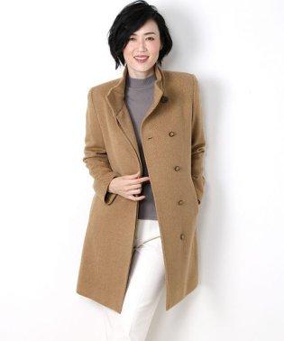 日本製 カシミヤ 100% スタンドカラー ロングコート