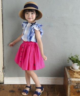 ローンボタンデザインスカート