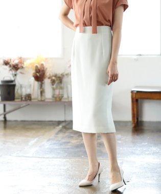 ★【セットアップ対応/洗える】リネンフェイス スカート