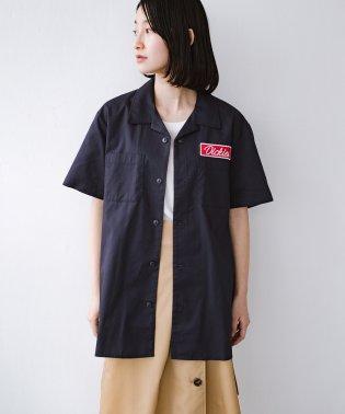Dickies TCツイルワッペン付きオープンカラーシャツ
