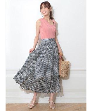 エアリーチェックプリーツスカート