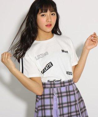 【コットン100%】【抗菌防臭】ロゴ柄 Tシャツ