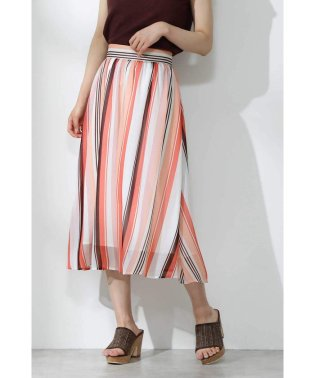 ランダムシアーストライプスカート