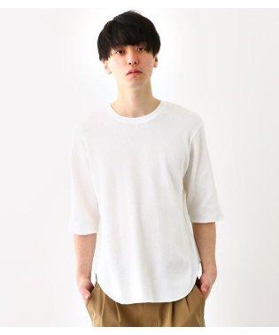 ワッフル 5分袖 Tシャツ