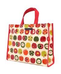 【通園・通学】プールバッグ ラミネートバッグ(スクエアタイプ) おしゃれリンゴのひみつ(アイボリー)