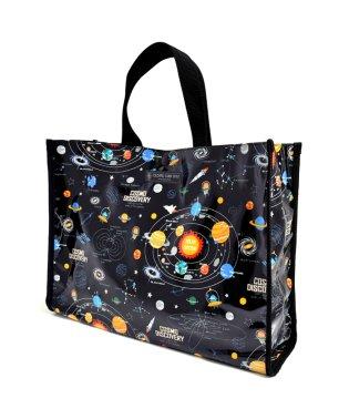 プールバッグ ラミネートバッグ(スクエアタイプ) 太陽系惑星とコスモプラネタリウム(ブラック)