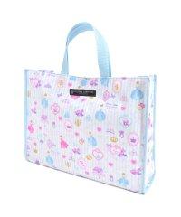 【通園・通学】プールバッグ ラミネートバッグ(スクエアタイプ) プリンセスドレスで彩るパウダールーム(ストライプ)