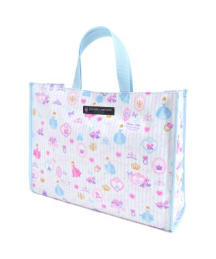 プールバッグ ラミネートバッグ(スクエアタイプ) プリンセスドレスで彩るパウダールーム(ストライプ)