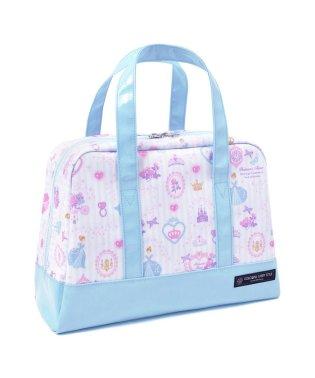 【通園・通学】セミボストン(プールバッグ) プリンセスドレスで彩るパウダールーム(ストライプ)