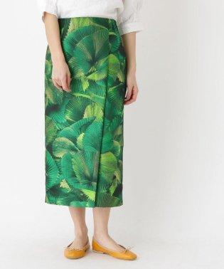 【セットアップ】トロピカルリーフジャカードスカート