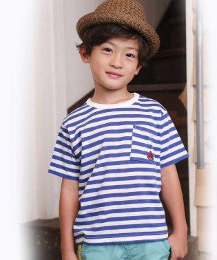 天竺ボーダーフルーツ刺繍BIGTシャツ