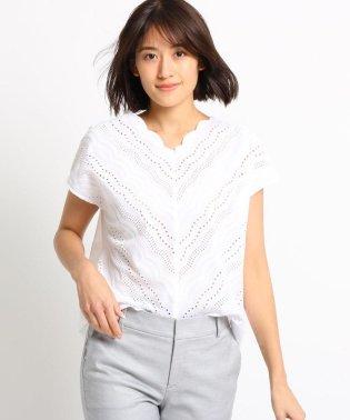【WEB限定/ハンドウォッシュ】アイレットレースシャツ