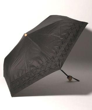 幾何学フラワー刺繍晴雨兼用折りたたみ傘 日傘