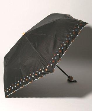 ドット刺繍晴雨兼用折りたたみ傘 日傘