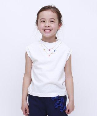 KIDSネックレス刺繍ノースリーブ