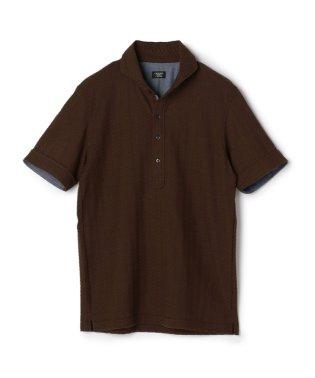《SWEAT DRAY》ポロシャツ/ヘリンボンジャガード