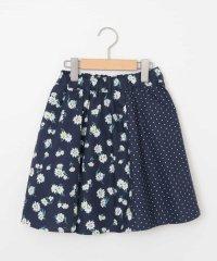 [100-130]カラー&プリントギャザースカート[WEB限定サイズ]