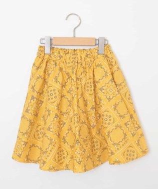 [140-150]カラー&プリントギャザースカート