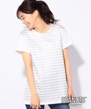 SNOOPY×ボーダーTシャツ