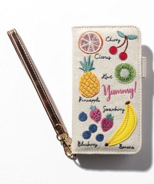 モチーフ刺繍ブック型iPhone8/7/6/6sケース