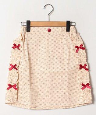 水玉柄タイトスカート(150~160cm)