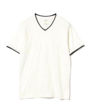 BEAMS / ダブル カラー カットオフ Vネック Tシャツ