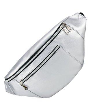 PU レザー 外ポケット ボディパック ウエストバッグ