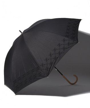 幾何学フラワー刺繍晴雨兼用長傘 日傘