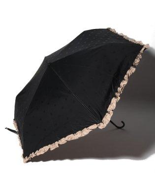 遮光ドットフリル晴雨兼用折りたたみ傘 日傘