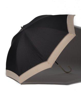 バイカラーストライプ晴雨兼用長傘 日傘