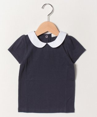 丸衿つきパフTシャツ